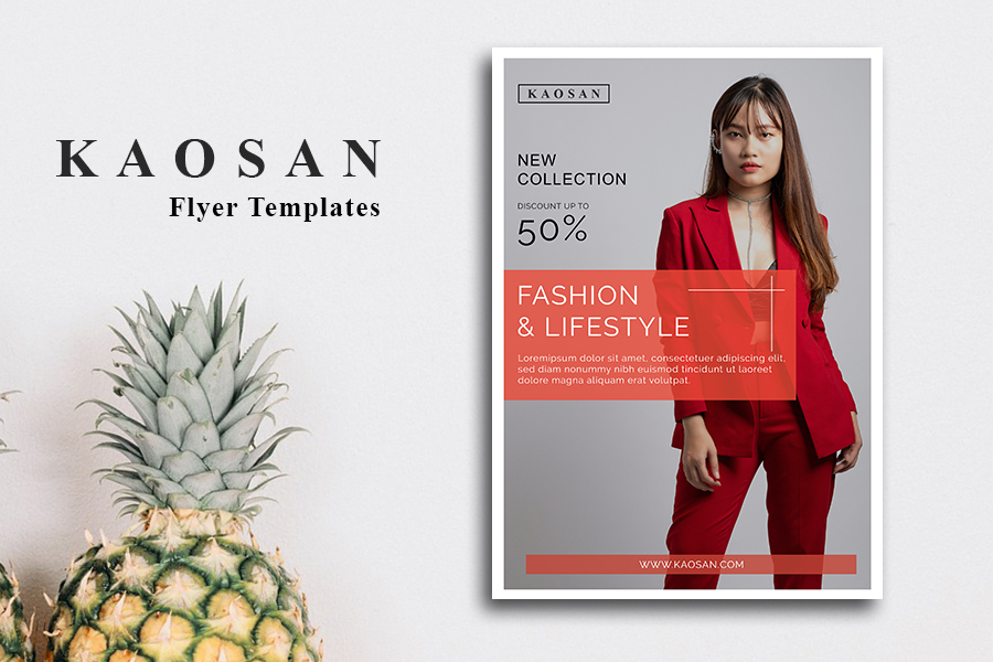 Fashion flyer template Vol 2 example image 2