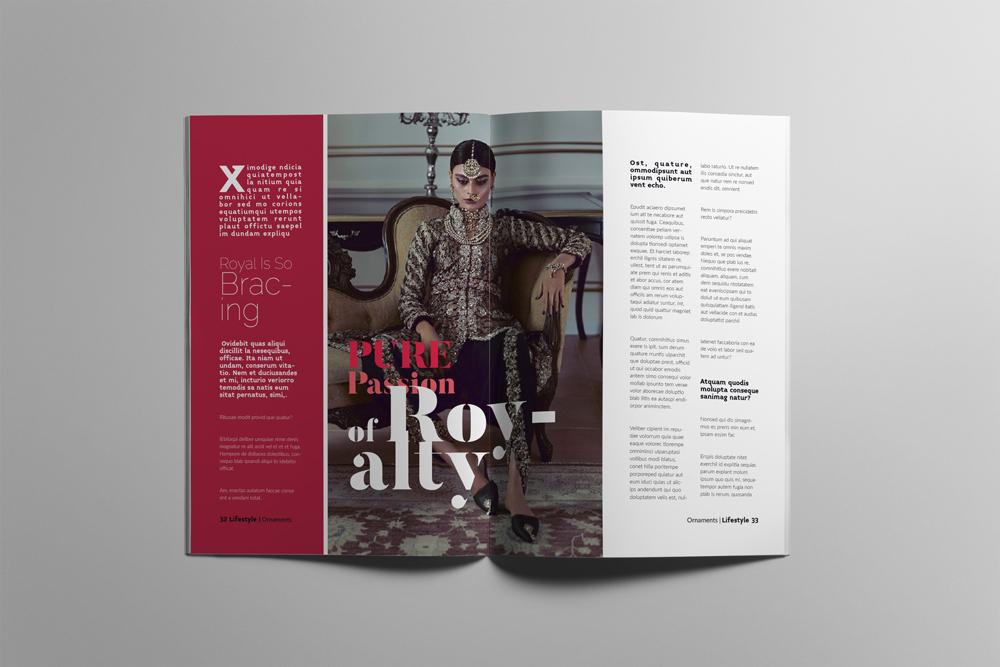 Fashion Magazine Layout Template example image 17