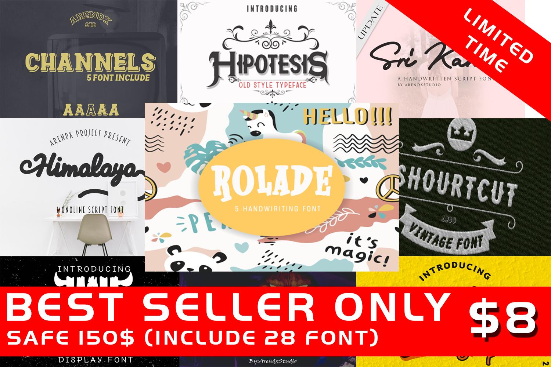 Best Seller-Bundle Font - Limited Time example image 1