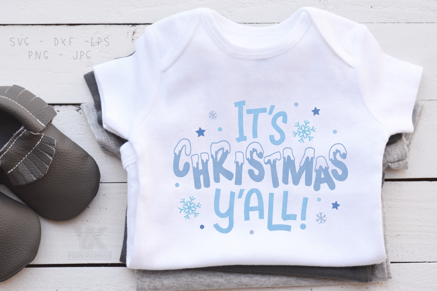 It's Christmas Y'all SVG example image 2