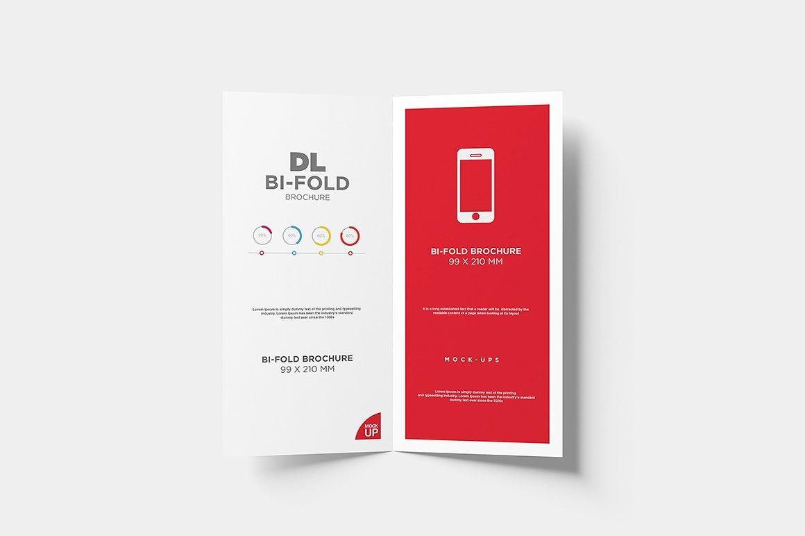 DL Bi-fold Brochure Mock-Up example image 4