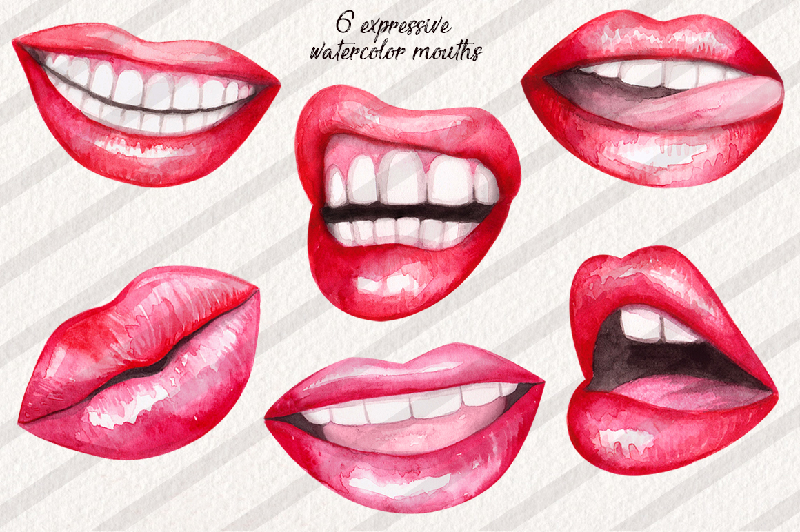 Watercolor Lips Collection example image 2