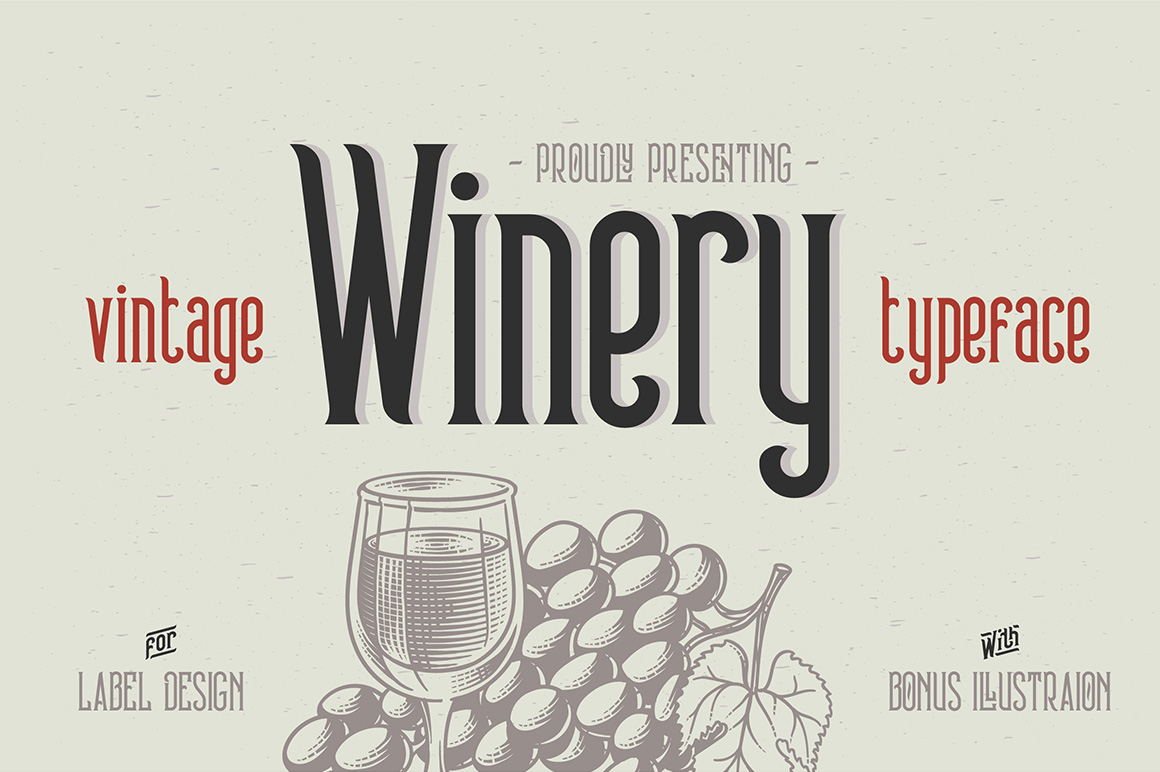 Winery typeface + bonus example image 1