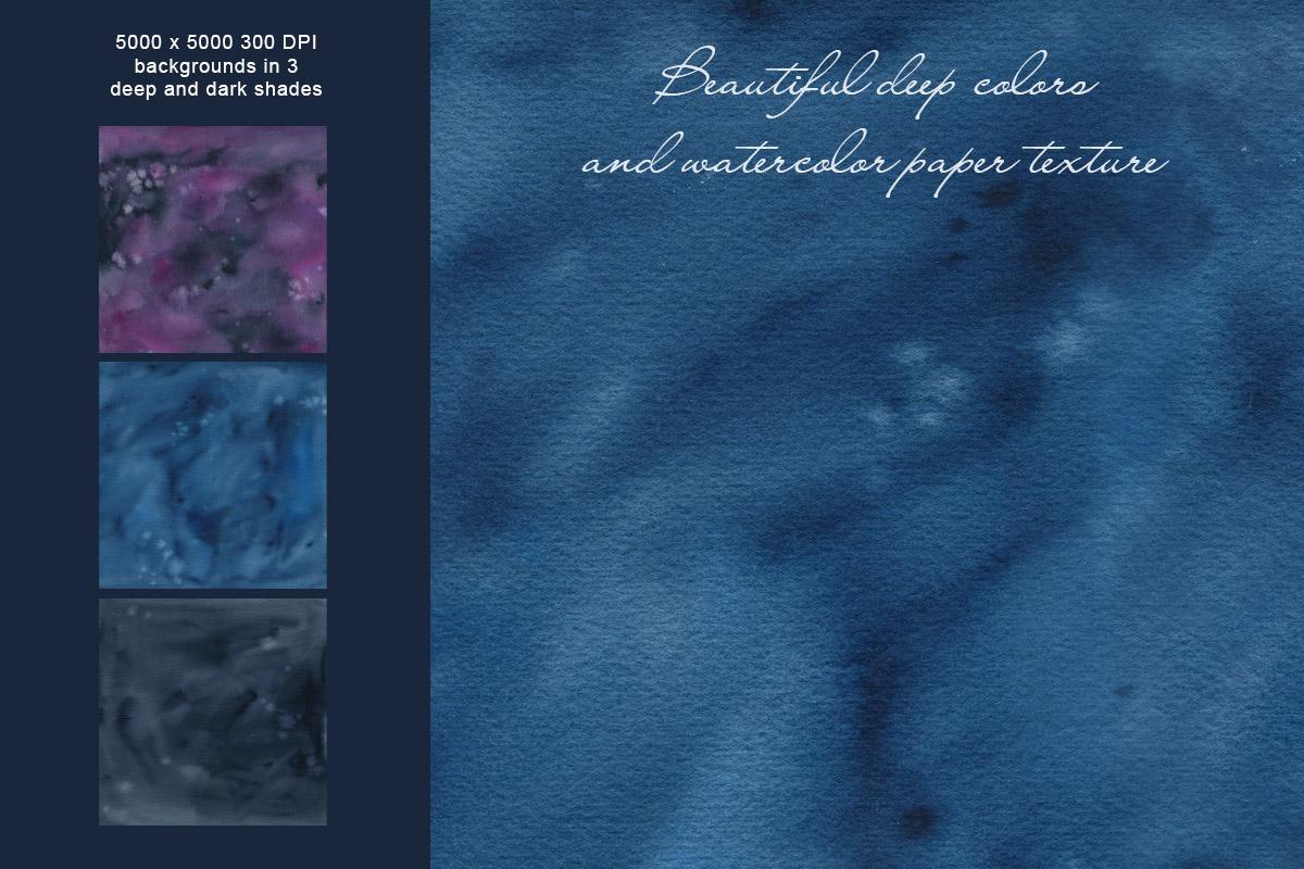 Dark Watercolor Backgrounds & Headers example image 9