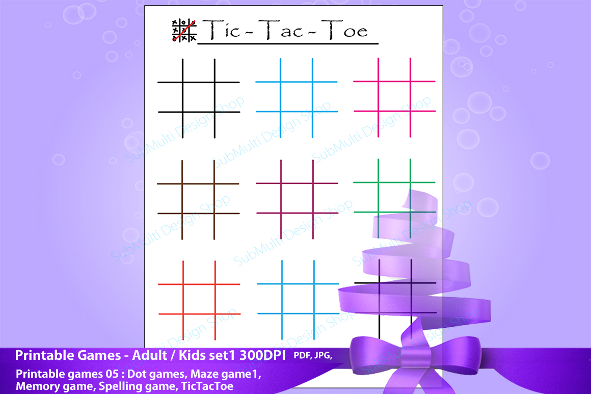 adult games / kids games / travel games /games / dot game, maze game, spelling game,memory game, Tic Tac Toe /High Quality clipart game example image 1