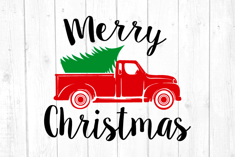 Christmas Truck Svg, Truck Svg, Christmas, Christmas Svg example image 1