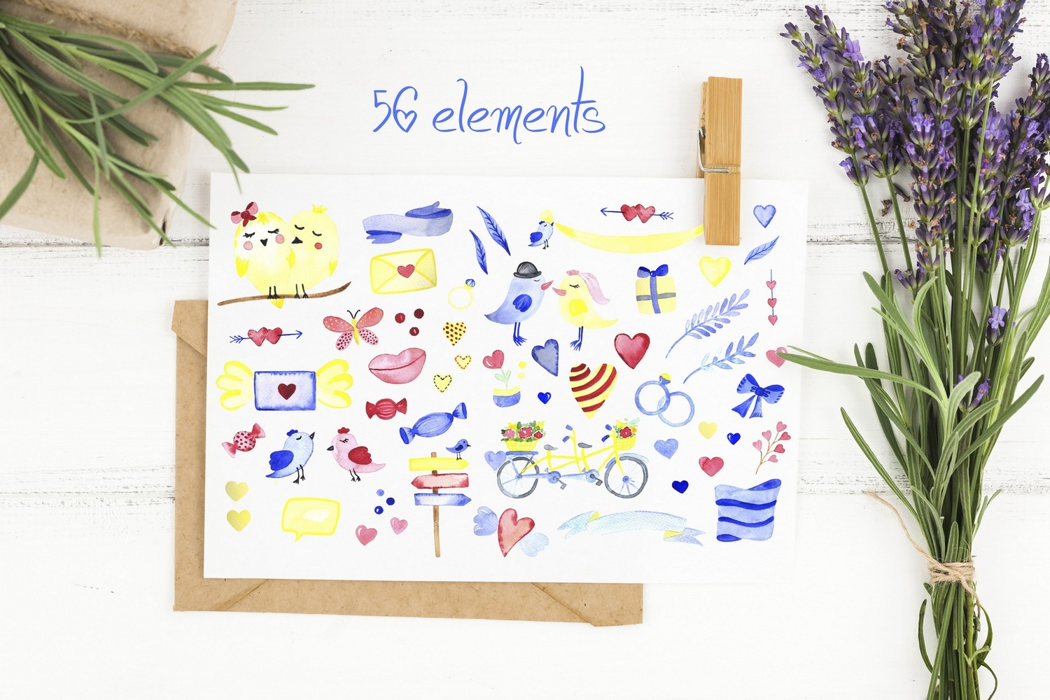 Love collection. Elements patterns example image 2