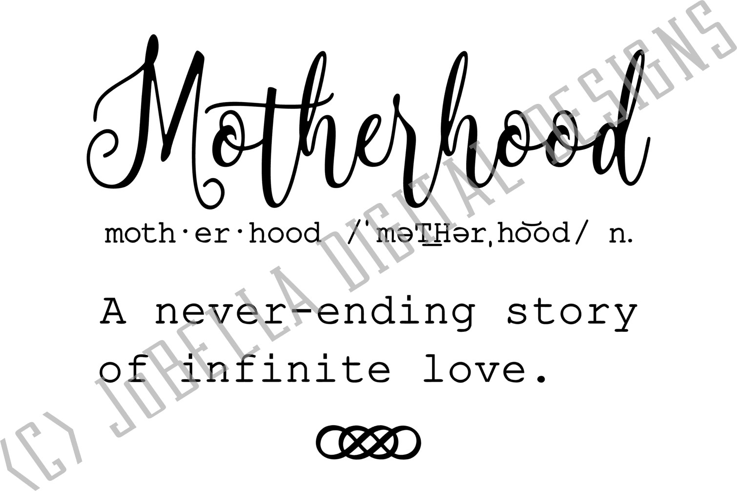 Motherhood SVG, Sublimation Design and Mother's Day Print example image 3