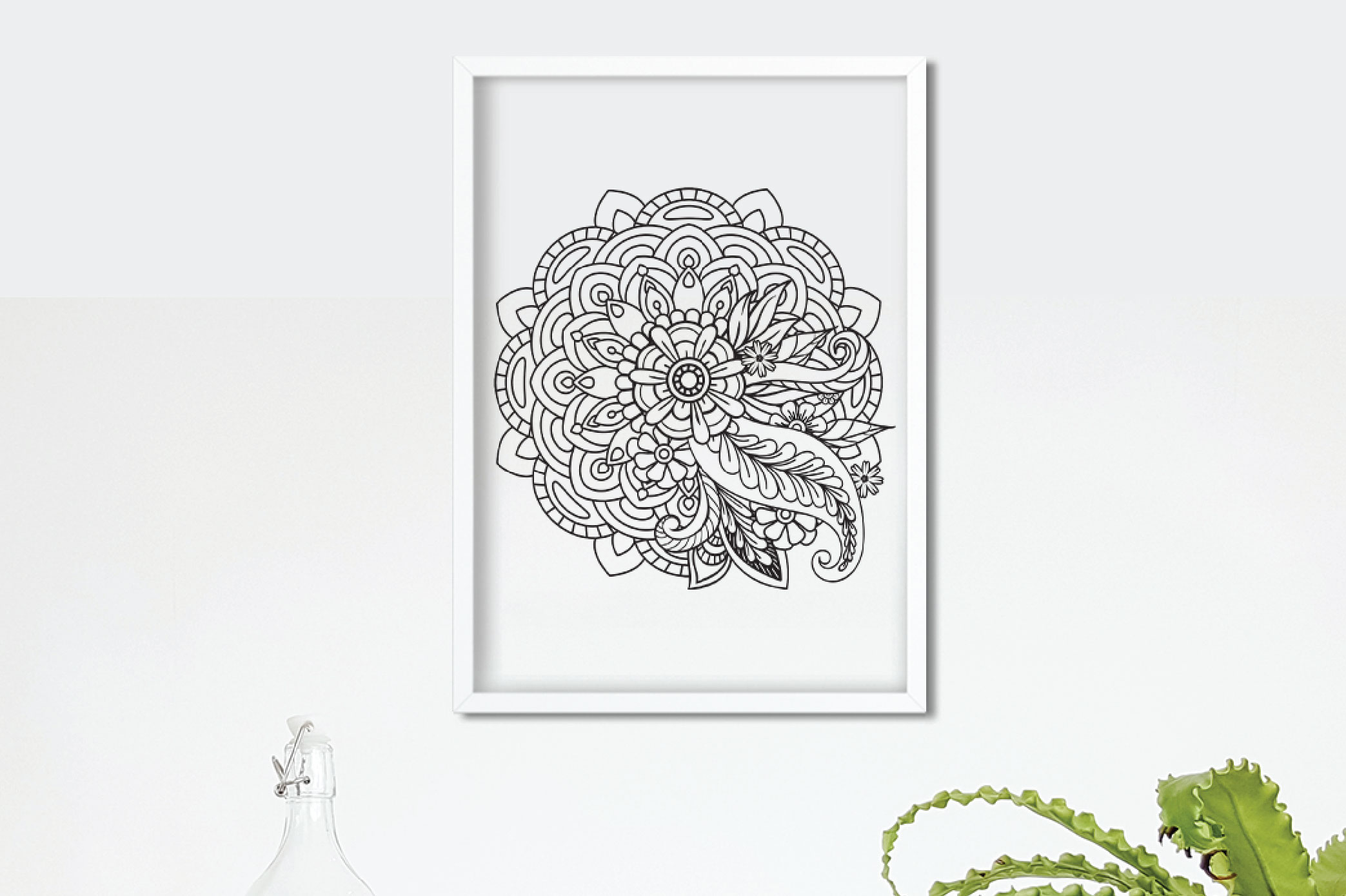 Floral Mandala SVG example image 4