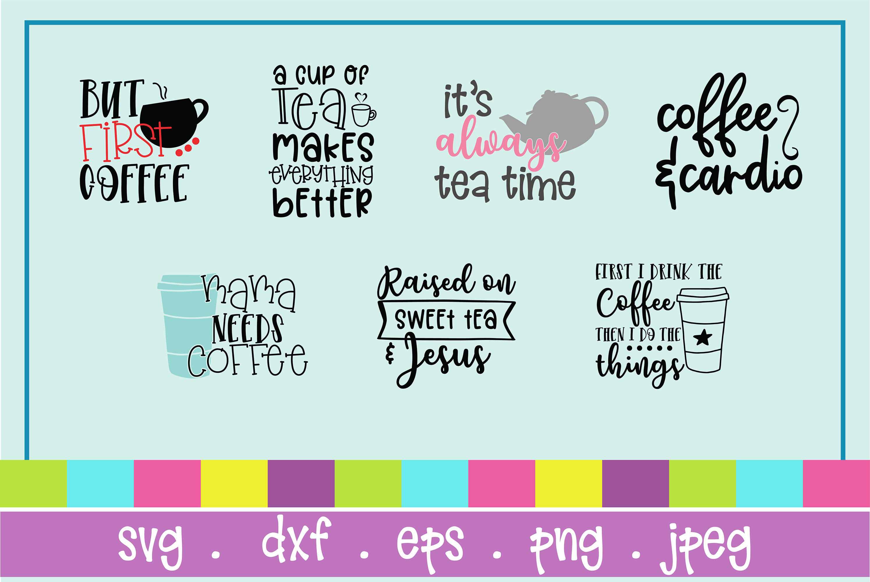 The Huge SVG Bundle Vol 2, 500 Cutting files, SVG, DXF,PNG example image 8
