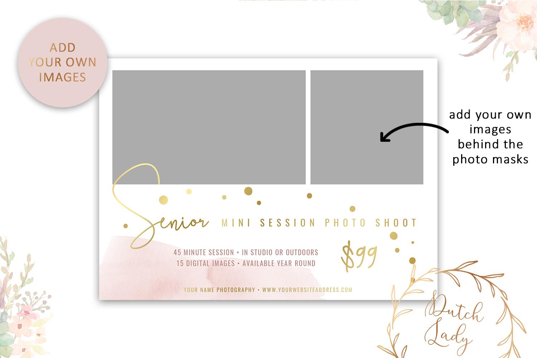 PSD Photo Mini Session Card Template - Design #32 example image 2