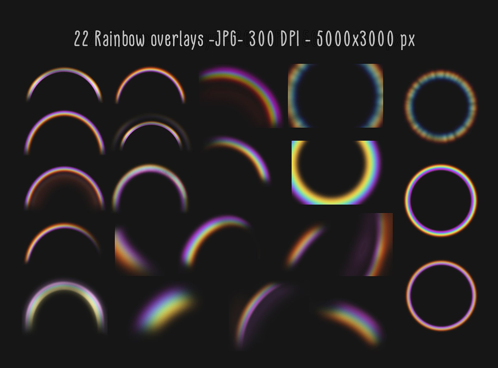 Rainbow overlays and textures example image 3