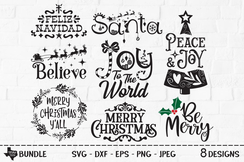 Christmas Bundle SVG, Cut Files, Christmas Shirt Design example image 1