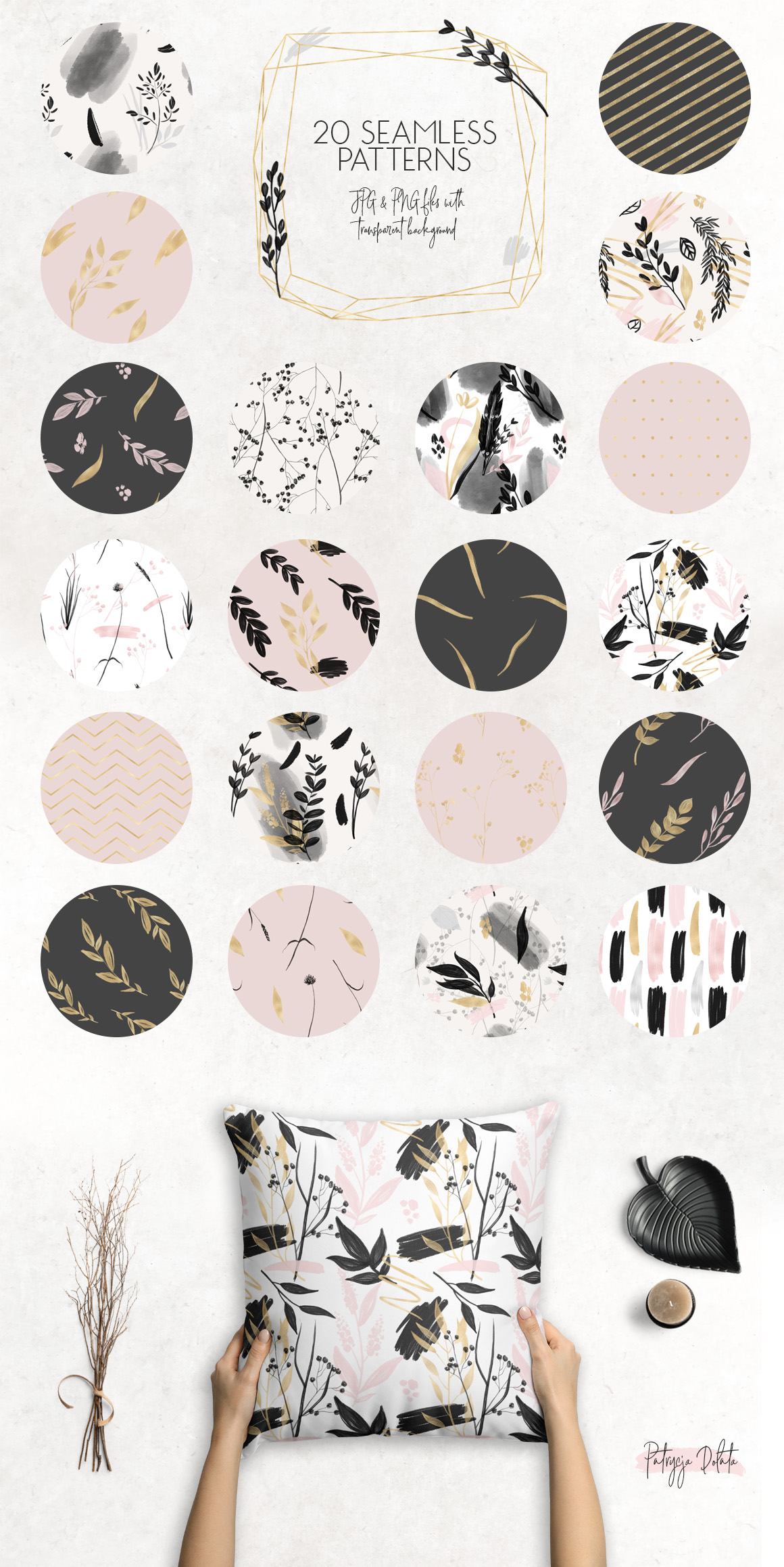 Charcoal, Gold & Blush Collection example image 10