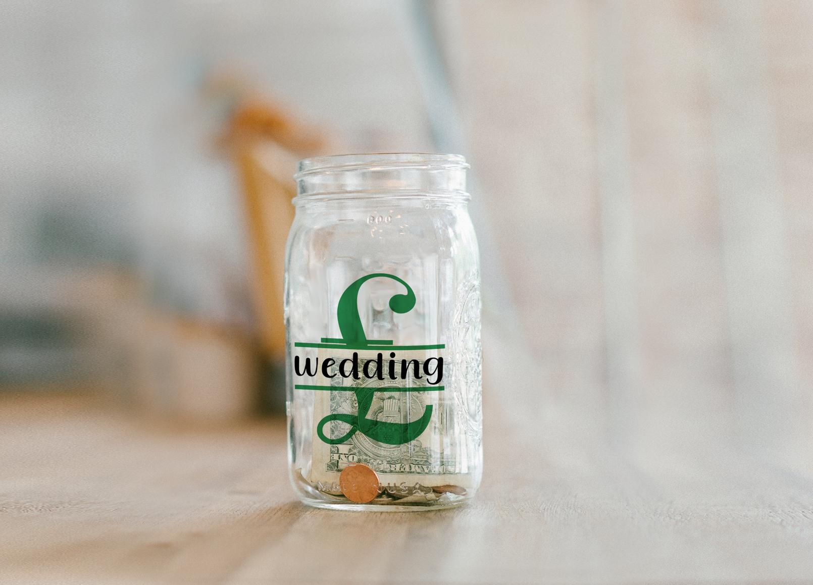 Saving for the Wedding Bank Design, Savings Series, SVG example image 4