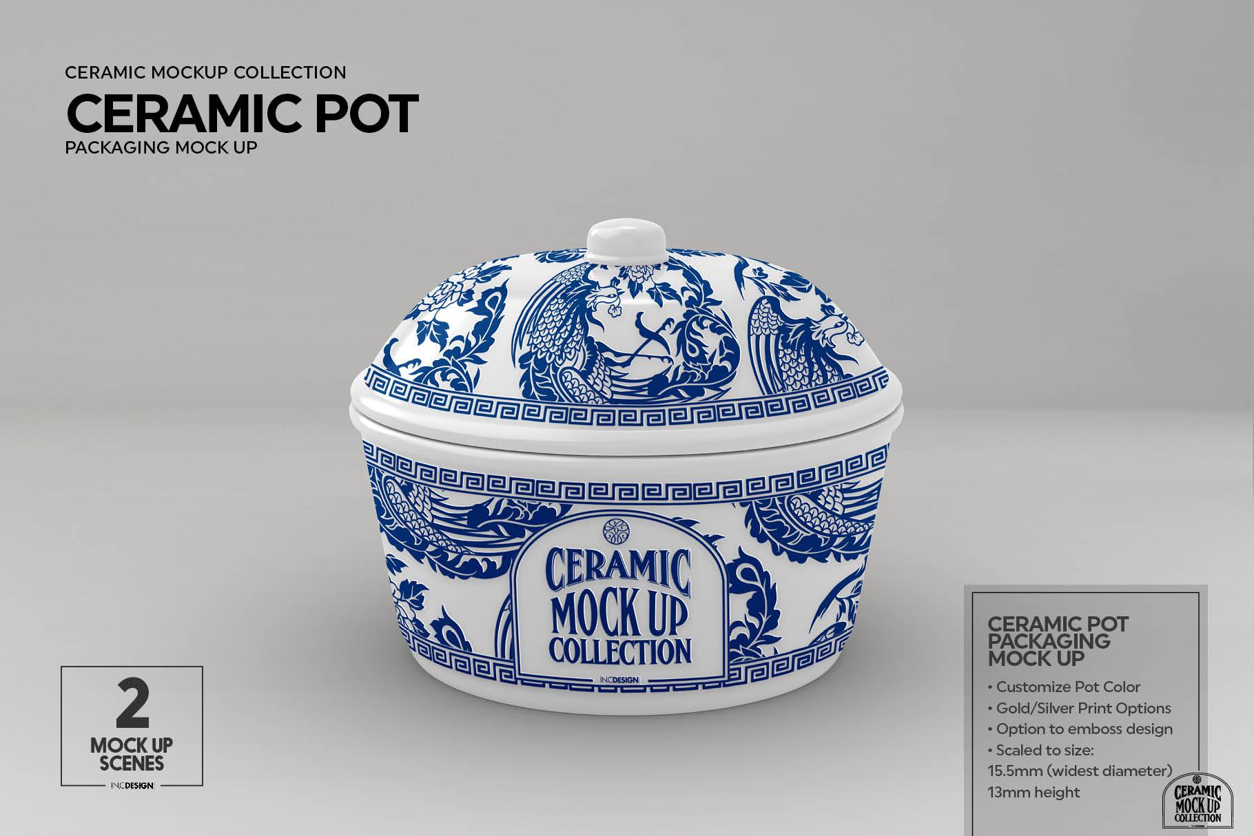 Ceramic Pot Packaging Mock Up example image 2