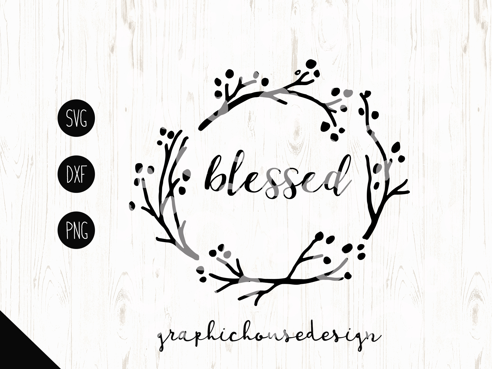 Blessed  Cutting File (SVG, DXF, PNG) example image 2