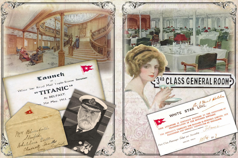 Titanic Journaling Kit with free ephemera JPEG, PDF and PNG example image 5