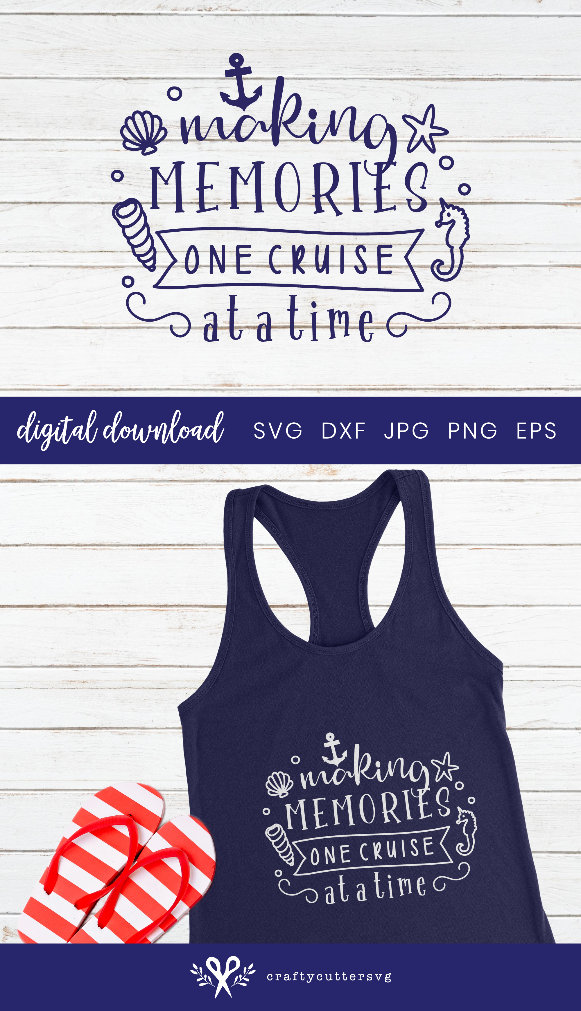 Making memories one cruise at a time Svg Cut File Clipart example image 3