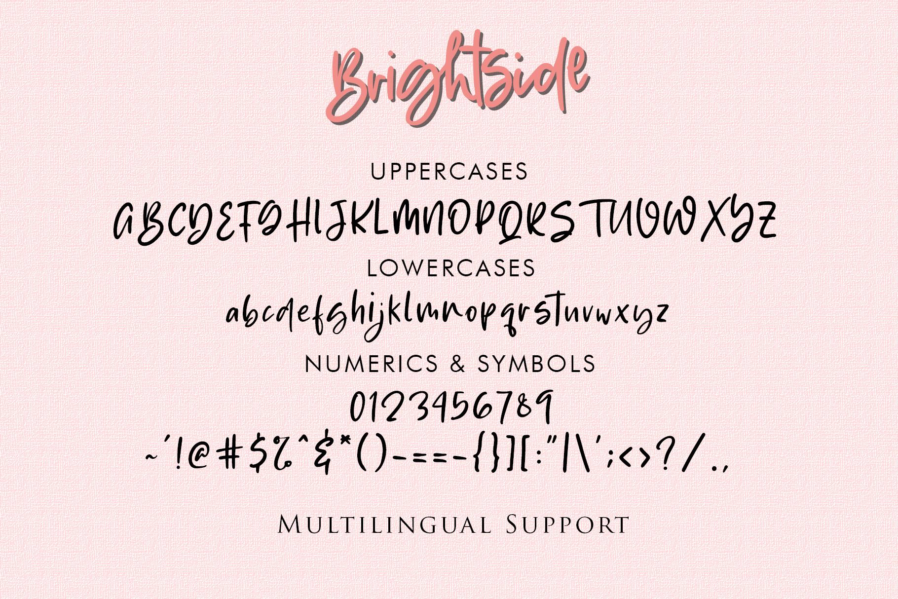 Brightside - Handwritten Brush Font example image 12