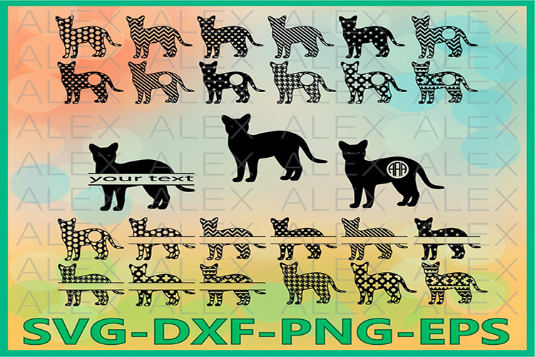 Cat Svg, png, eps, dxf, ai, Cat Silhouette, Cat Clipart example image 1