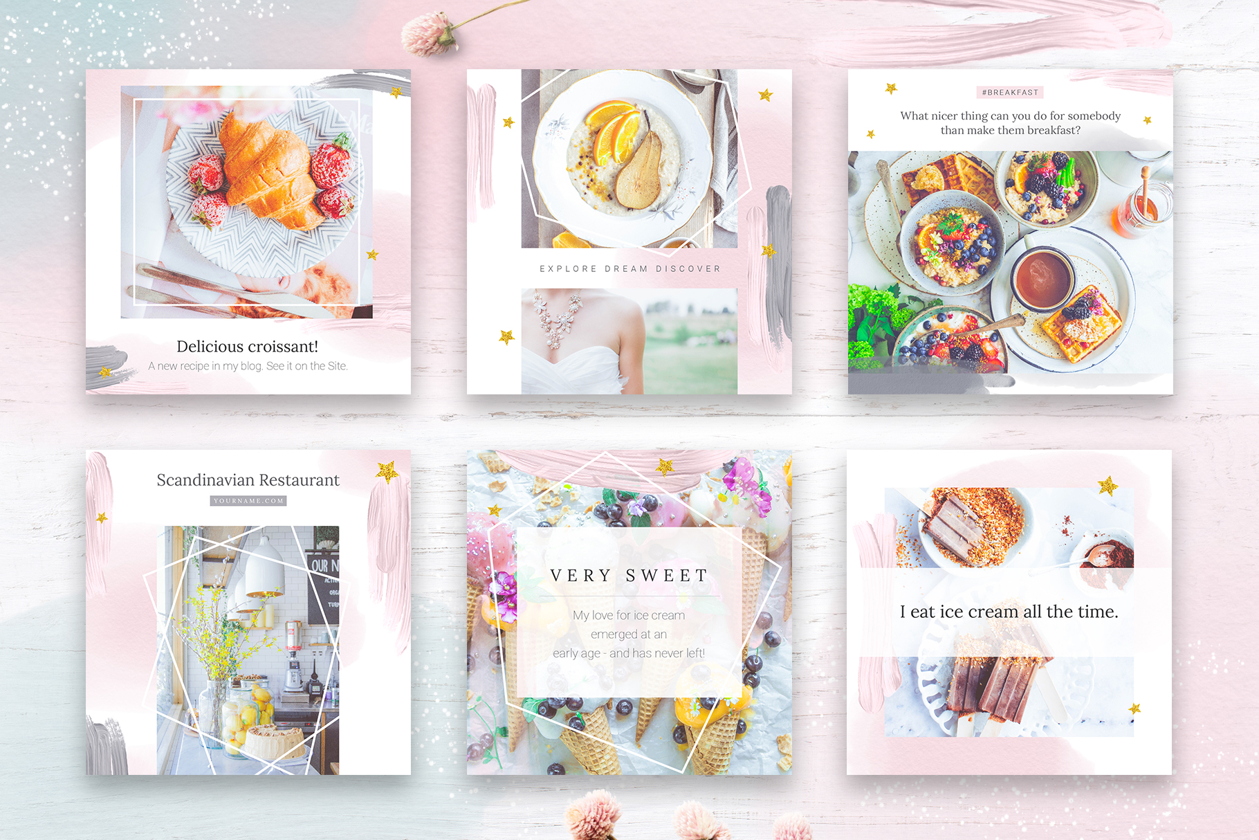 Instagram Watercolor Posts Pack example image 6