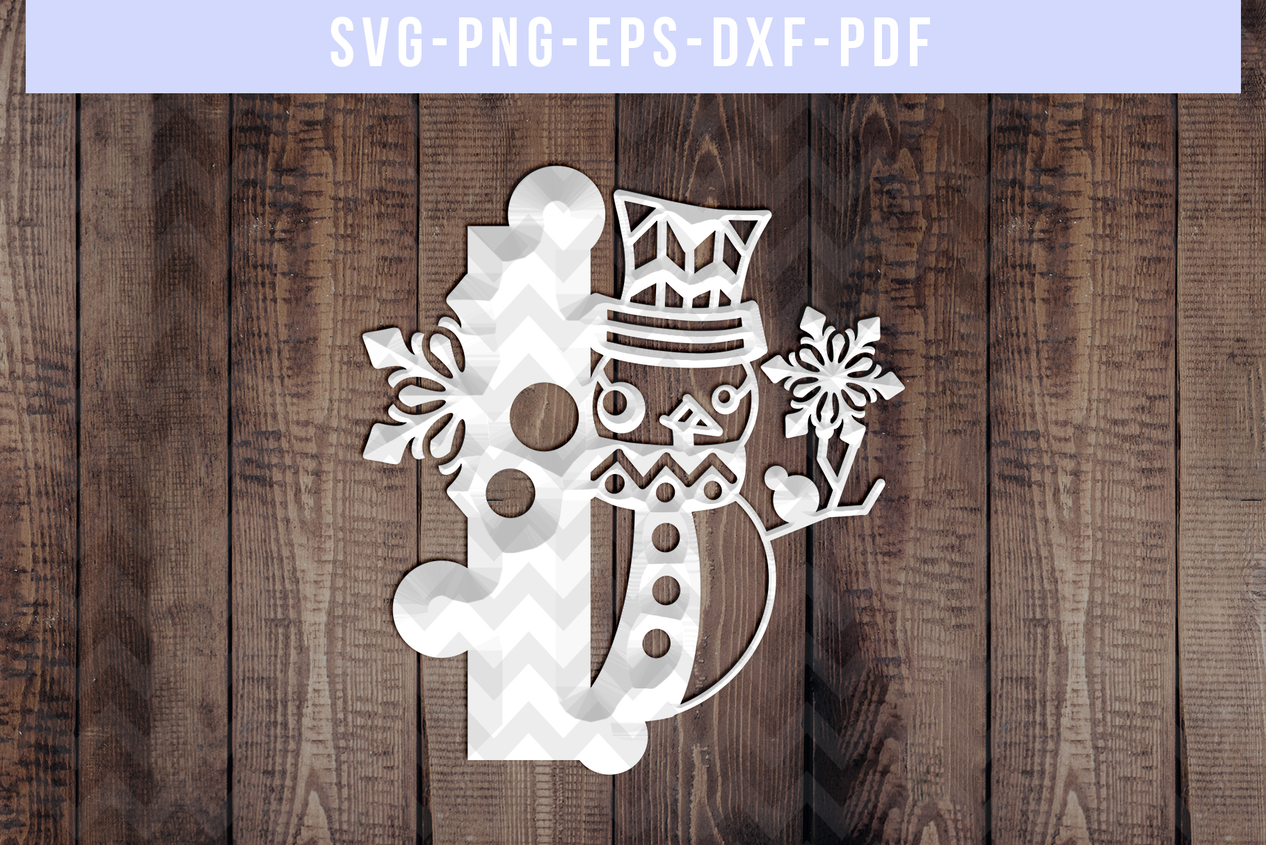 Snowman Font I Paper Cut Template, Winter Cutting SVG, DXF example image 2