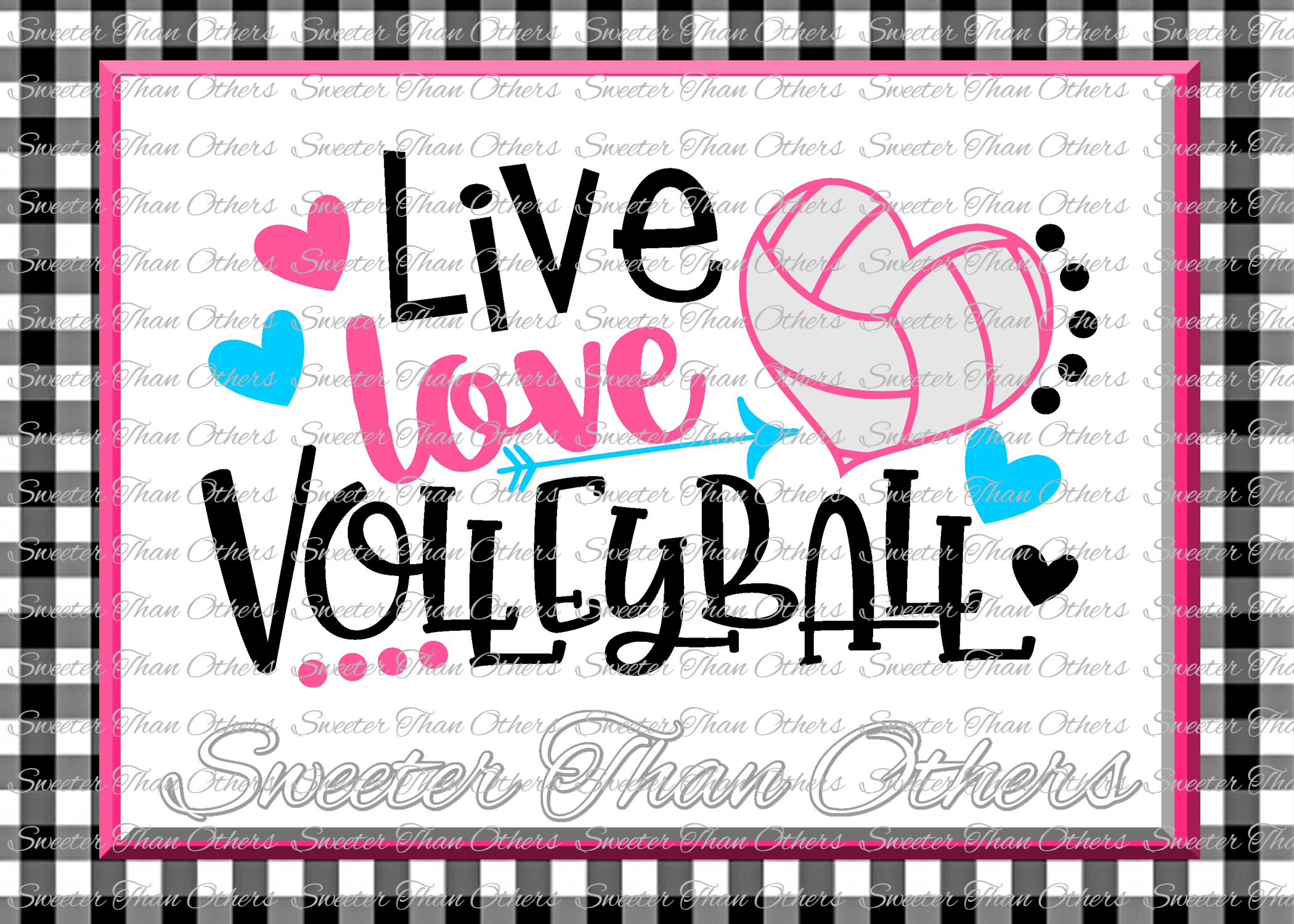 Volleyball svg Live Love Volleyball svg Design example image 1