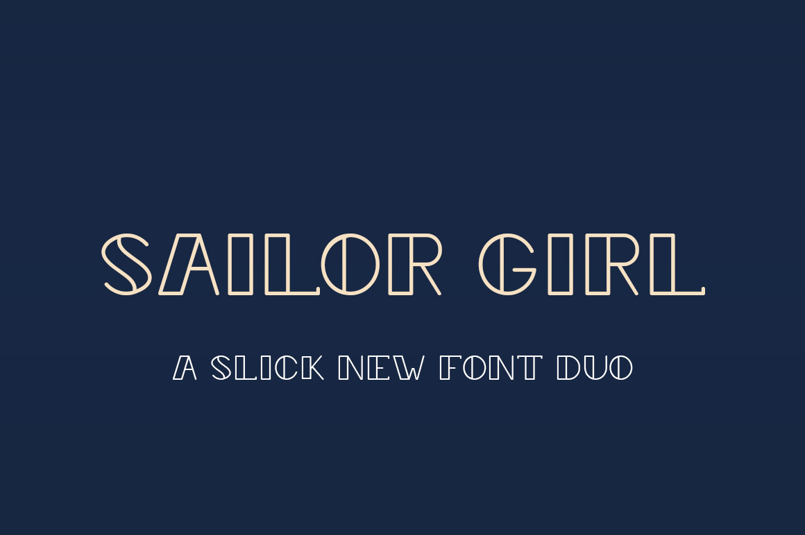 Sailor Girl Font Duo example image 1