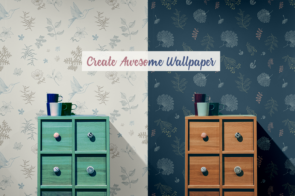70 Wallpaper Floral Elements and Patterns example image 2