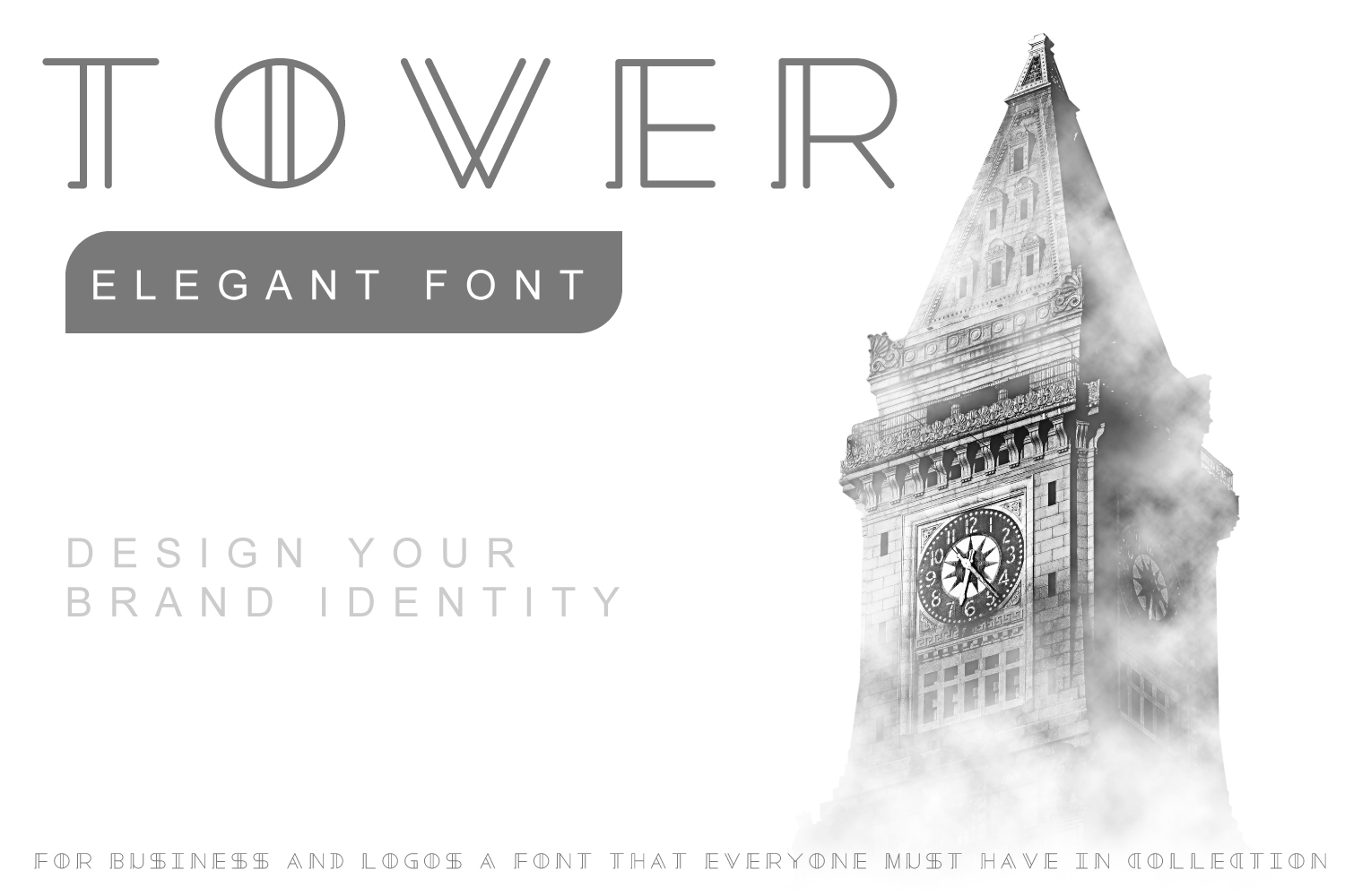 Tower - Minimal Brand Font  example image 1