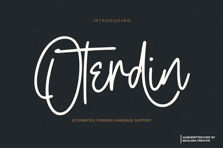 Oterdin - Handwritten Font example image 1