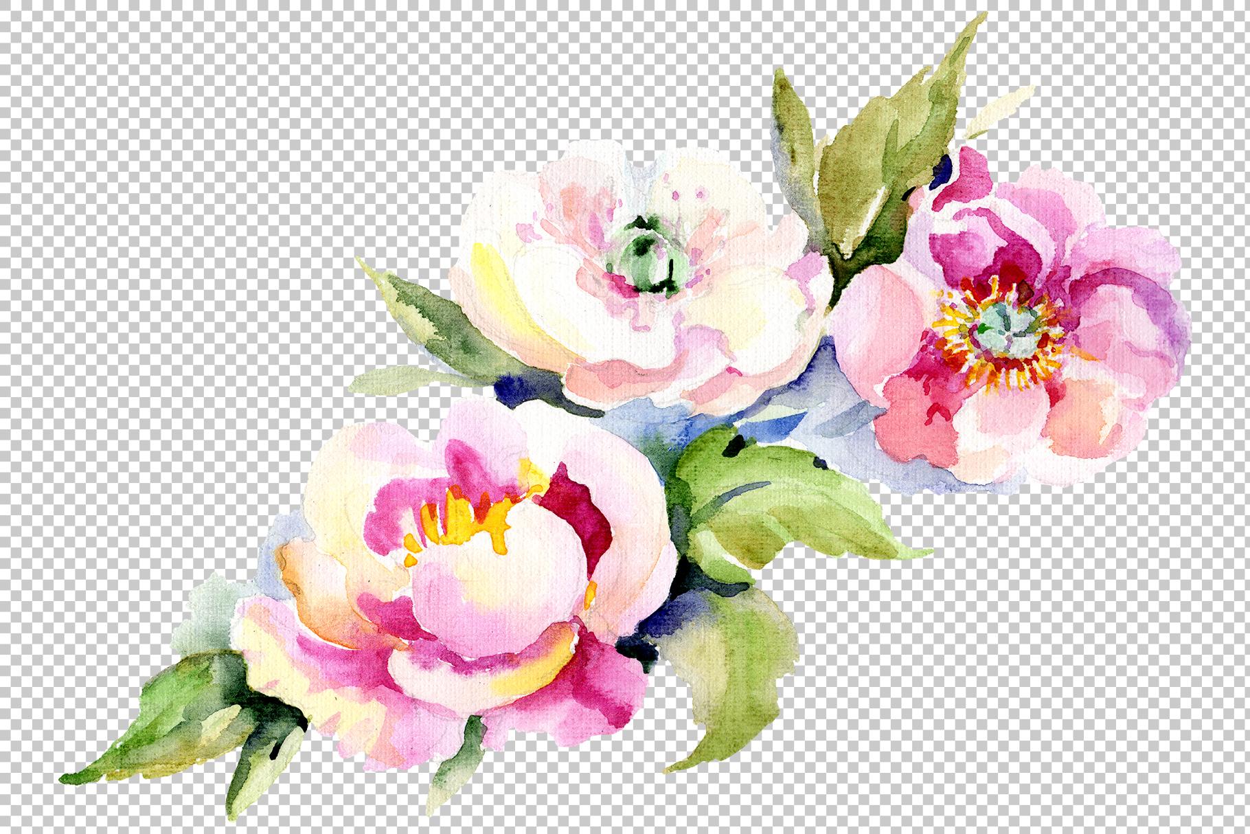 Bouquet Romantic Watercolor png example image 3