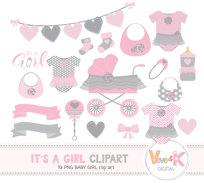 Baby Shower Clip Art Baby Girl Clipart Baby Girl Baby Shower Diy