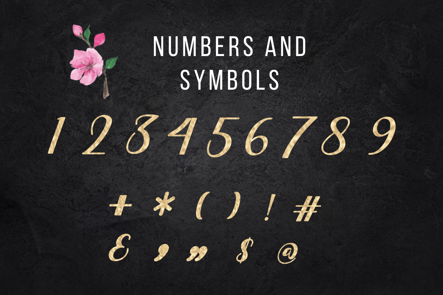 Gold foil alphabet, Gold letters clipart, Gold numbers example image 4