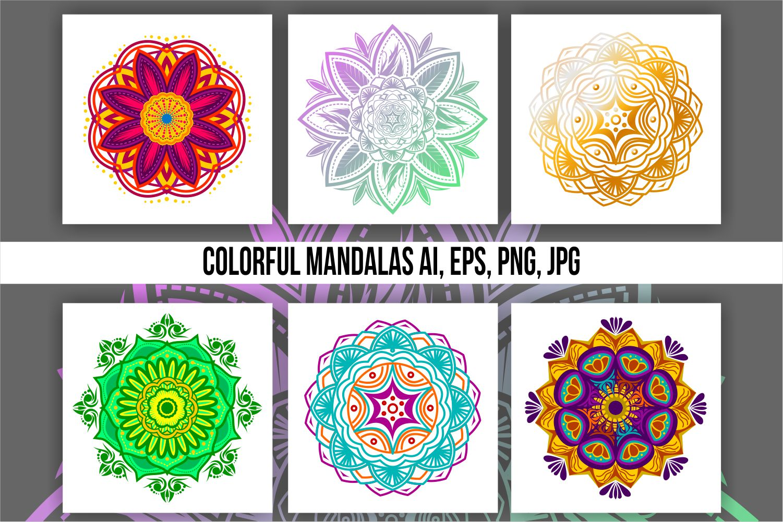 Colorful Mandala Abstract Geometric example image 1