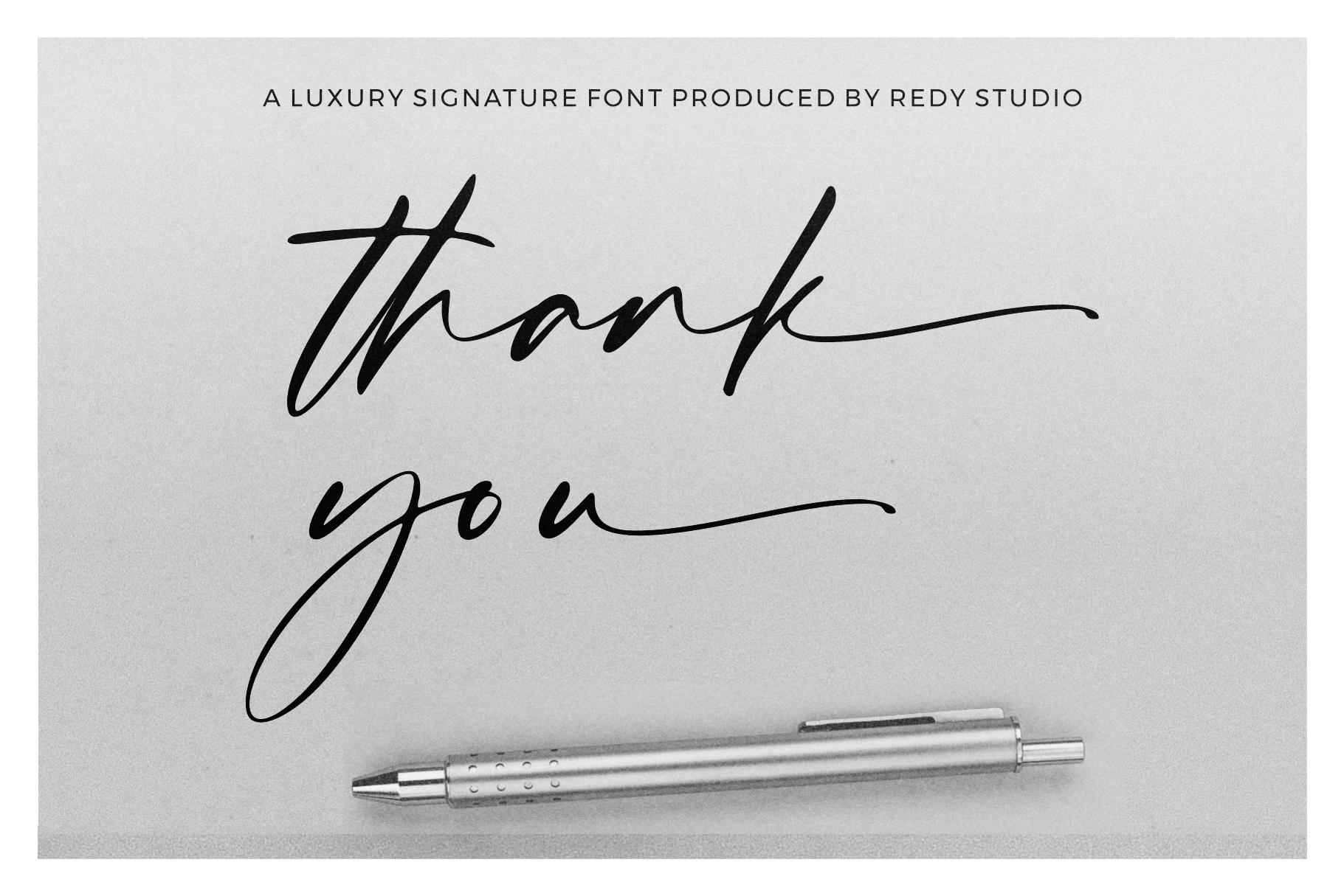 Hafidz | Luxury Signature Font example image 14