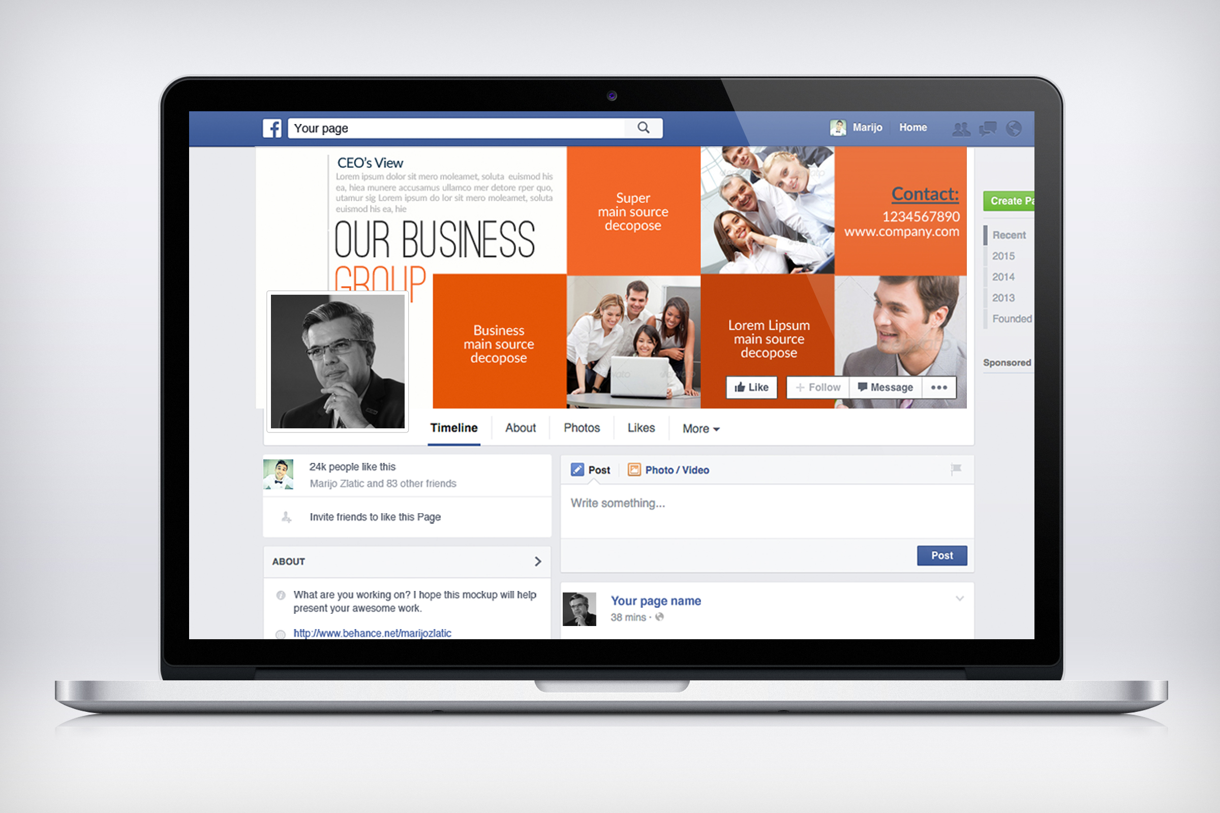 Business Corporate Facebook Cover example image 3