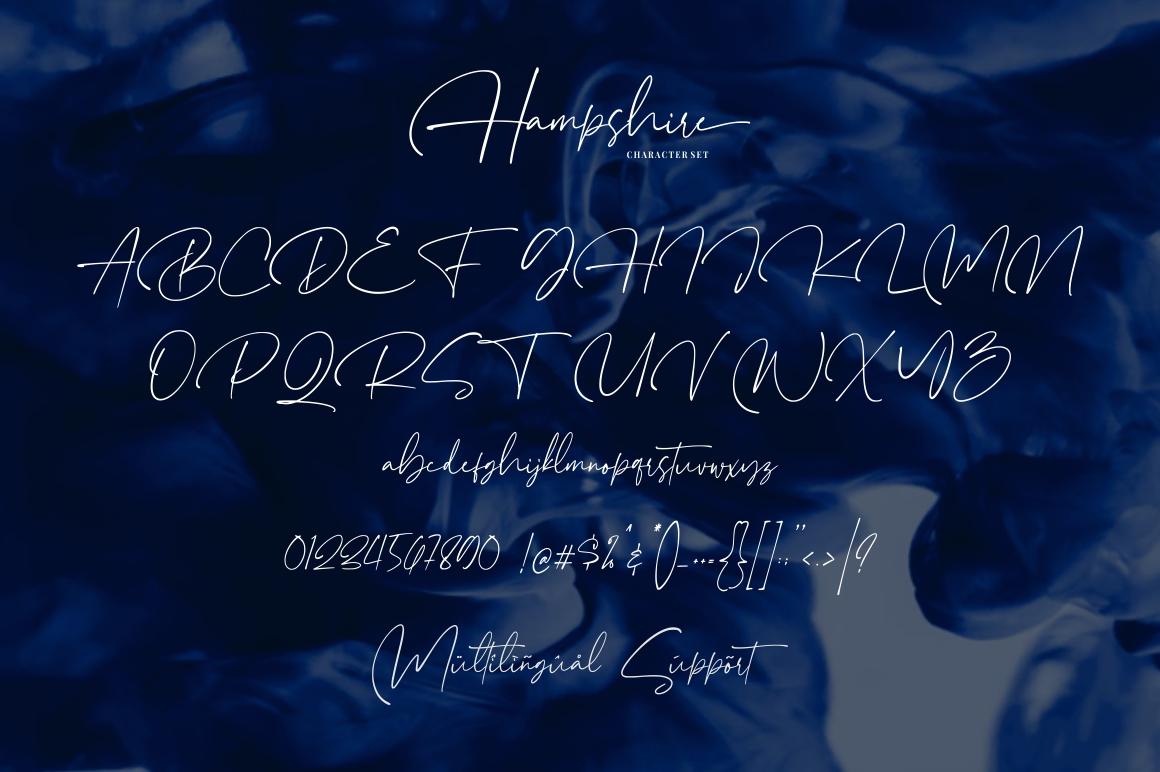 Hampshire - Modern Script Font example image 6