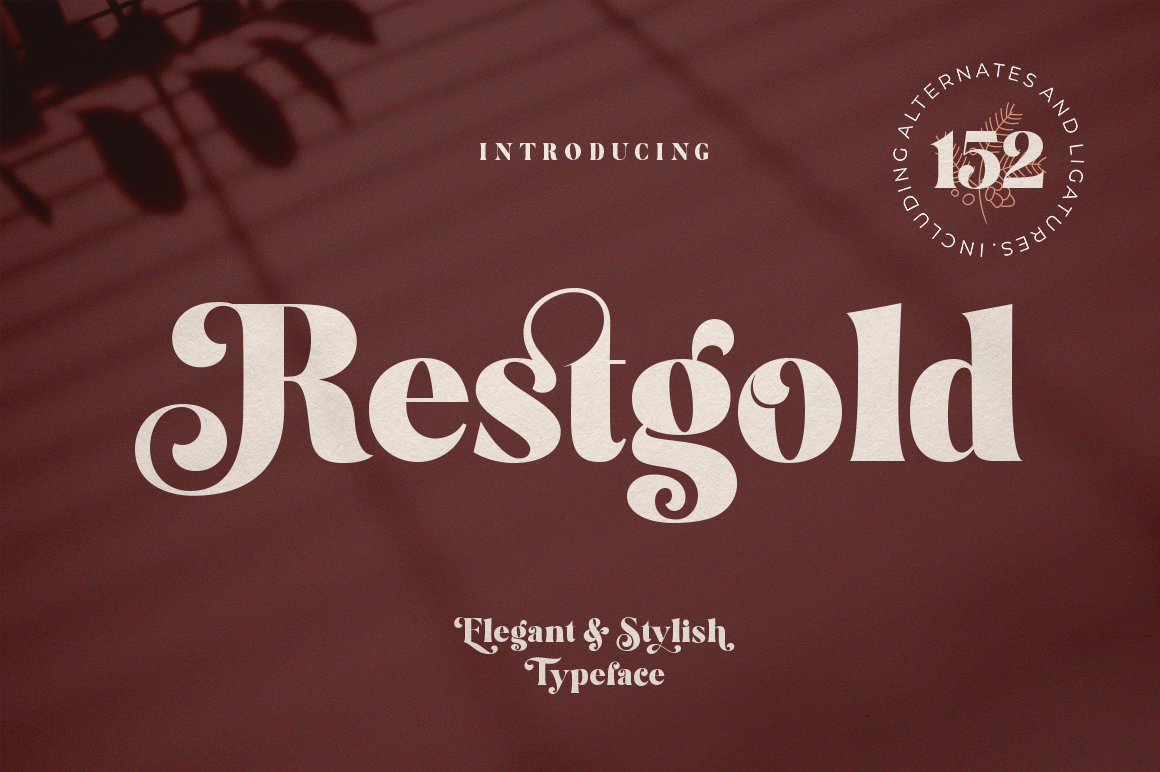 Restgold Serif Font example image 1