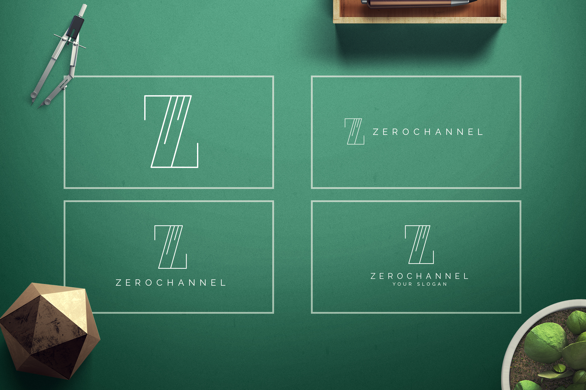 Geometric Letters and Logo Designs example image 27