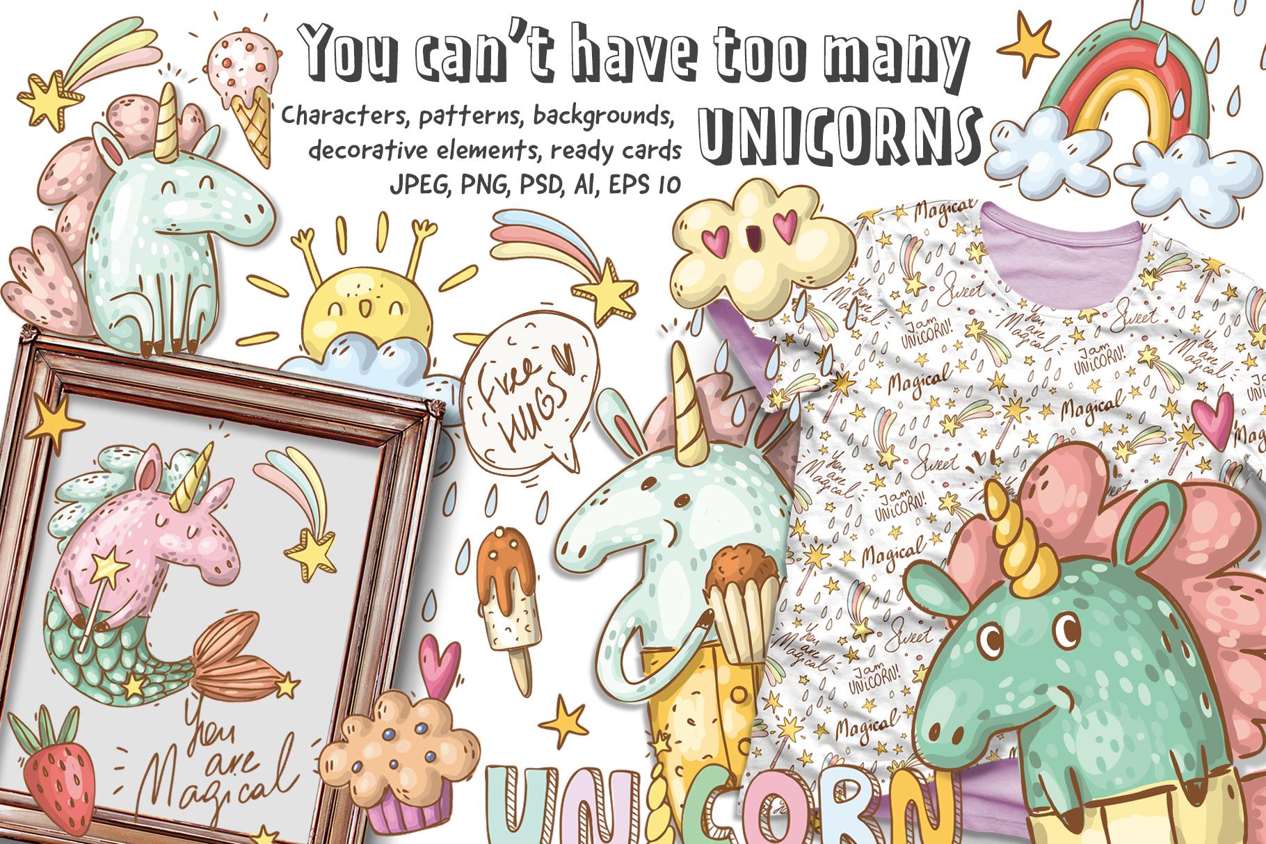 Magical unicorns set example image 1