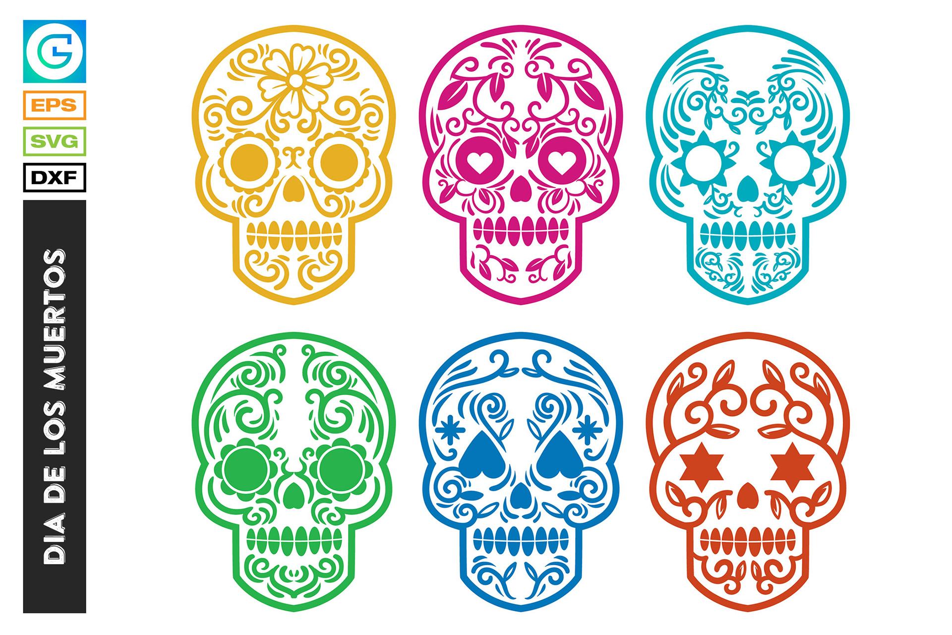 36 Dia de los muertos SVG, Day of the dead, sugar skull example image 8