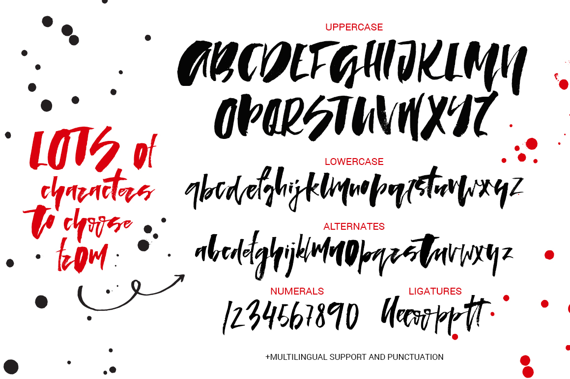 Lady in Red - script font example image 2