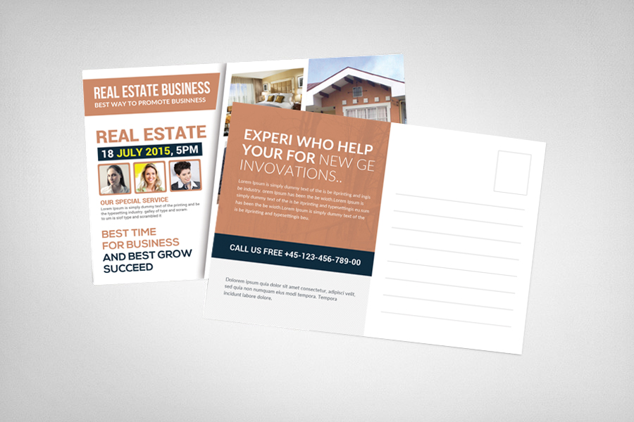 Real Estate Postcard Template example image 2