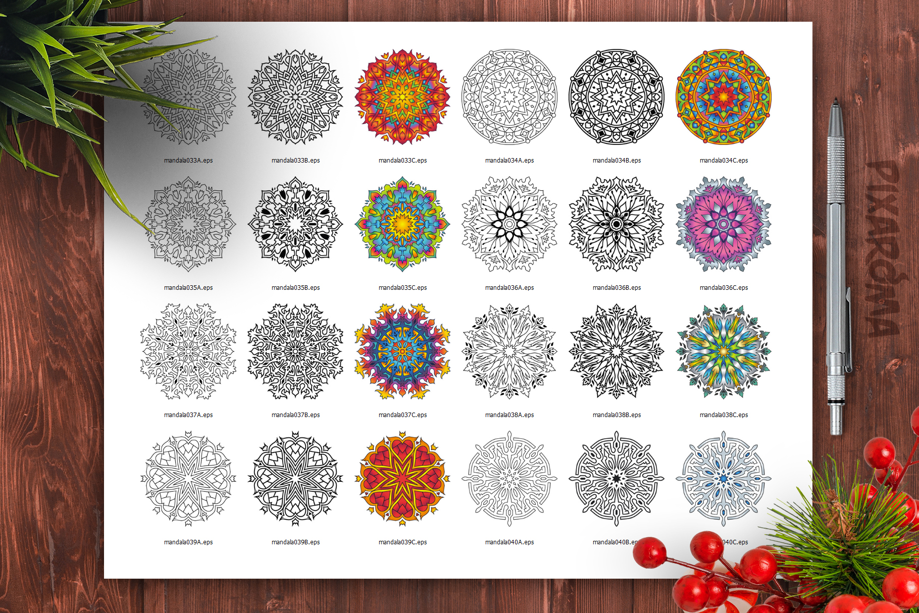 Mandala Vector Ornaments Bundle example image 30