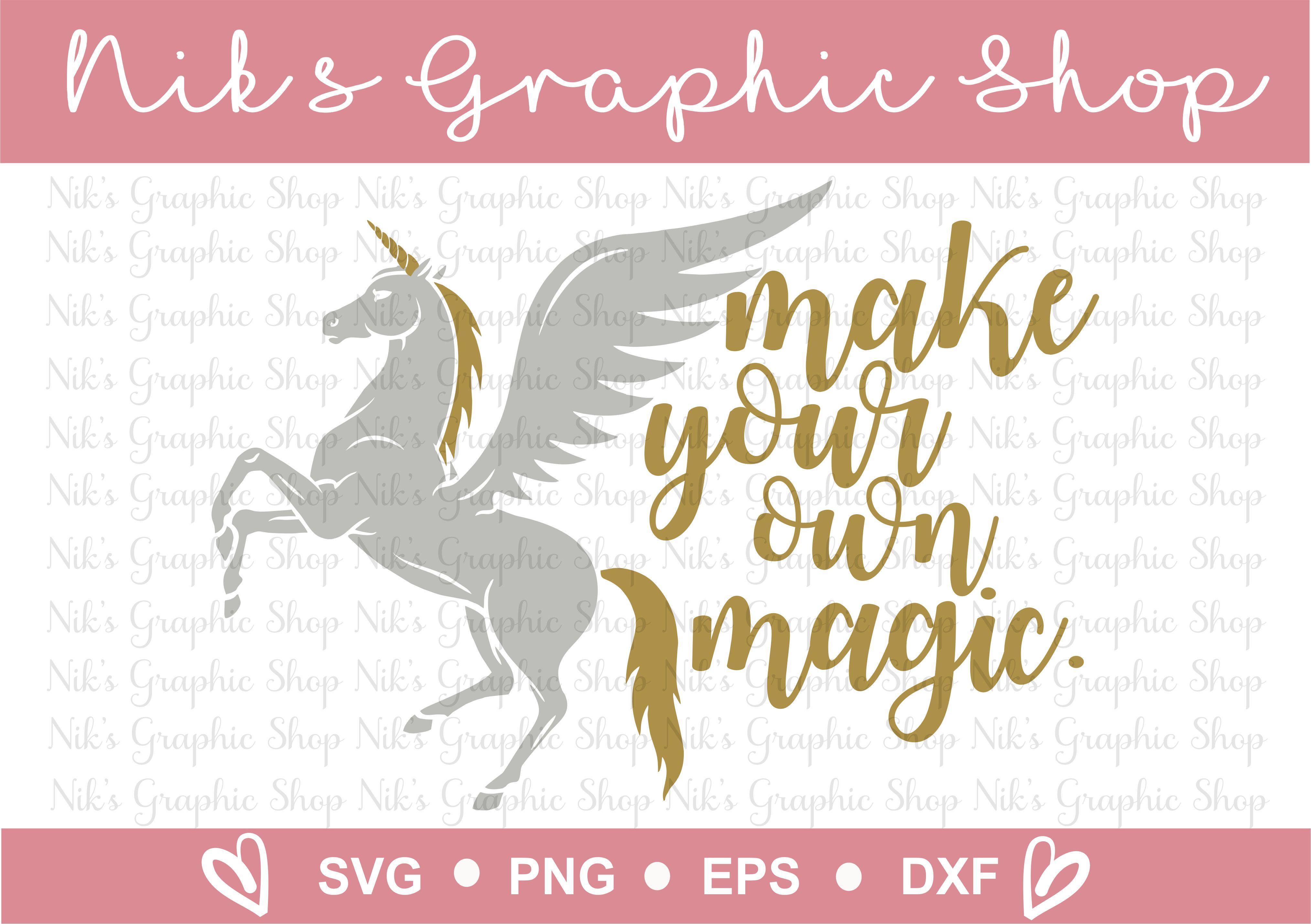 Unicorn Svg, Magic Svg, Make your own Magic Svg, Cut Files example image 2