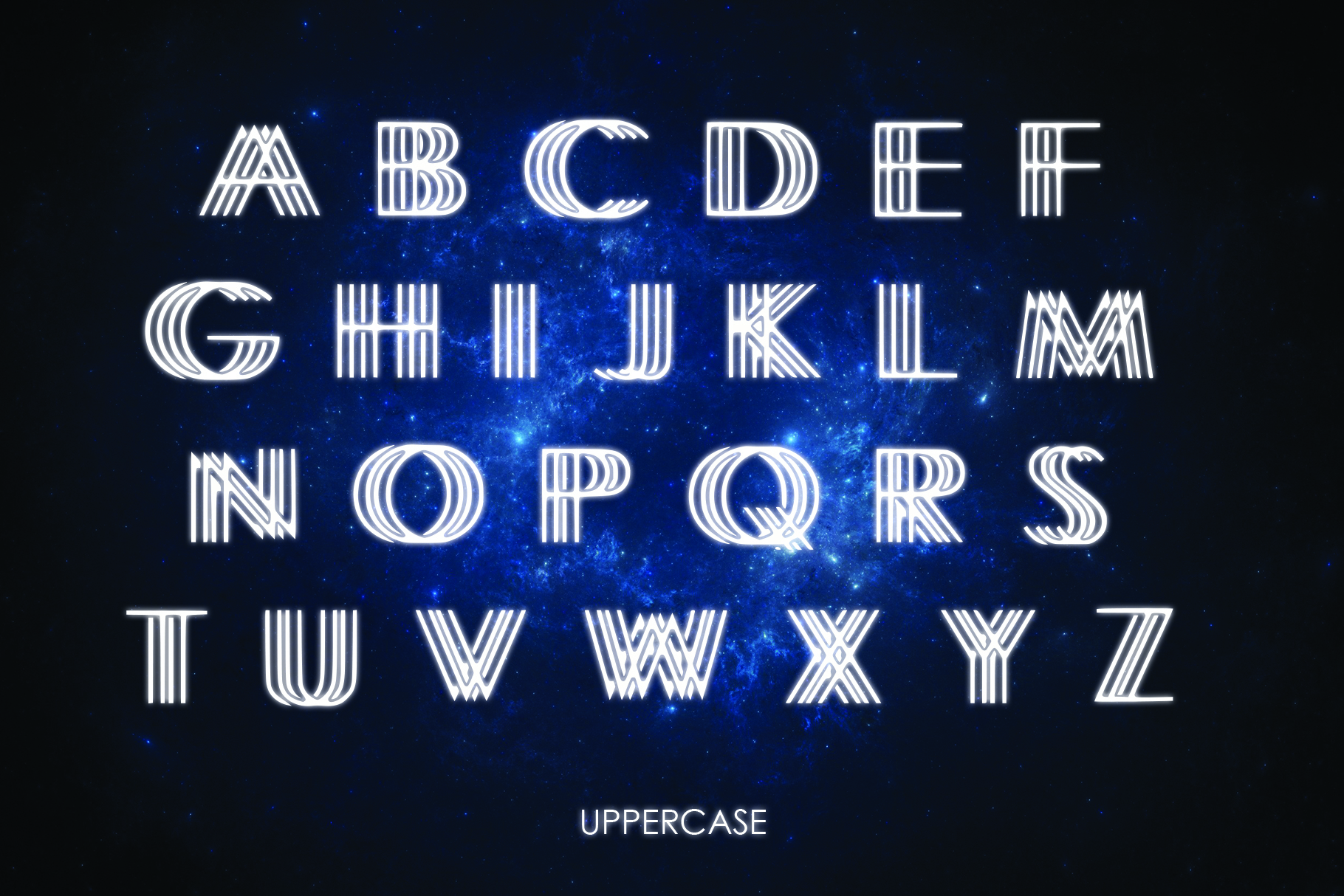 INTERLACE- A Unique Display Font example image 5