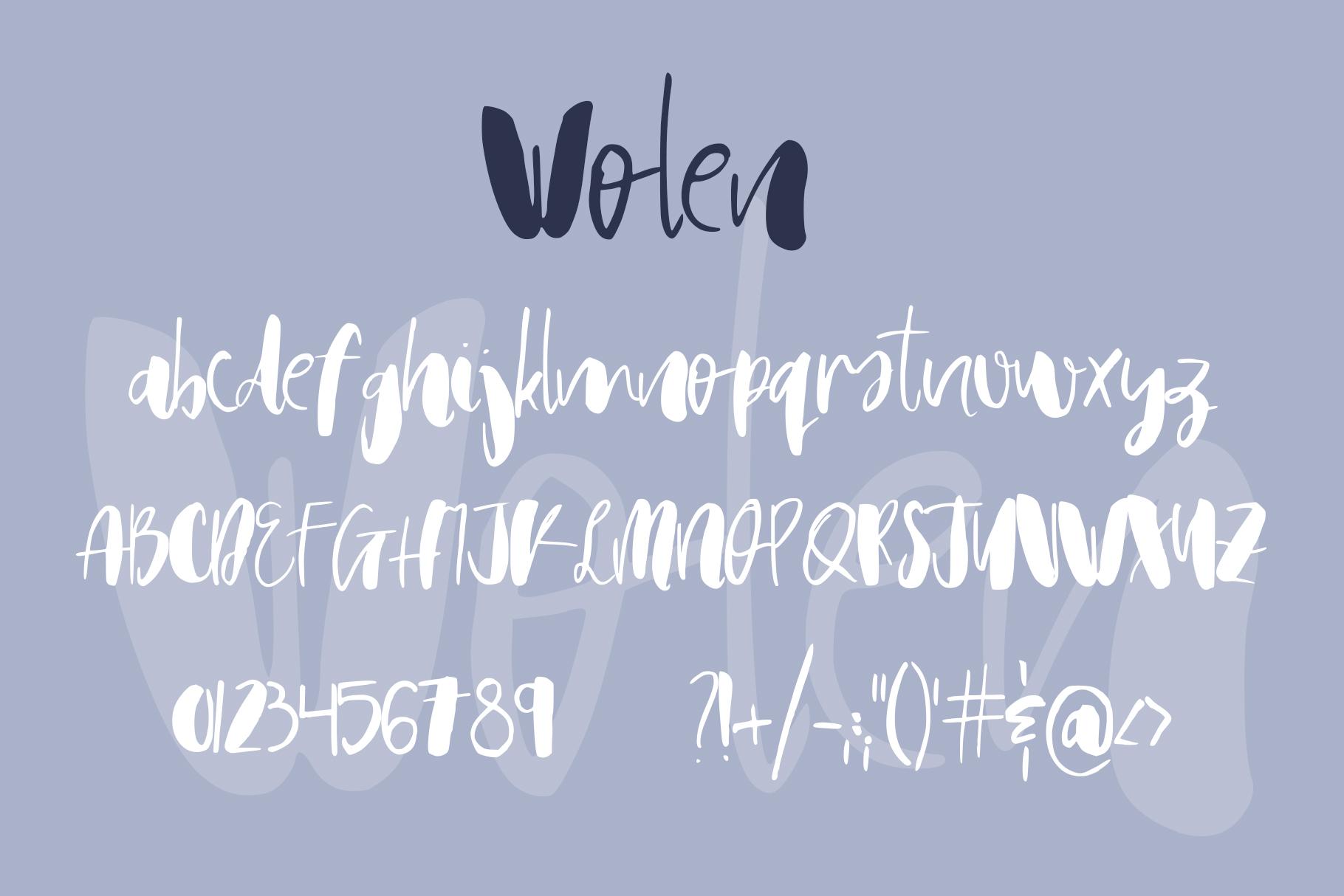 Wolen Font example image 8