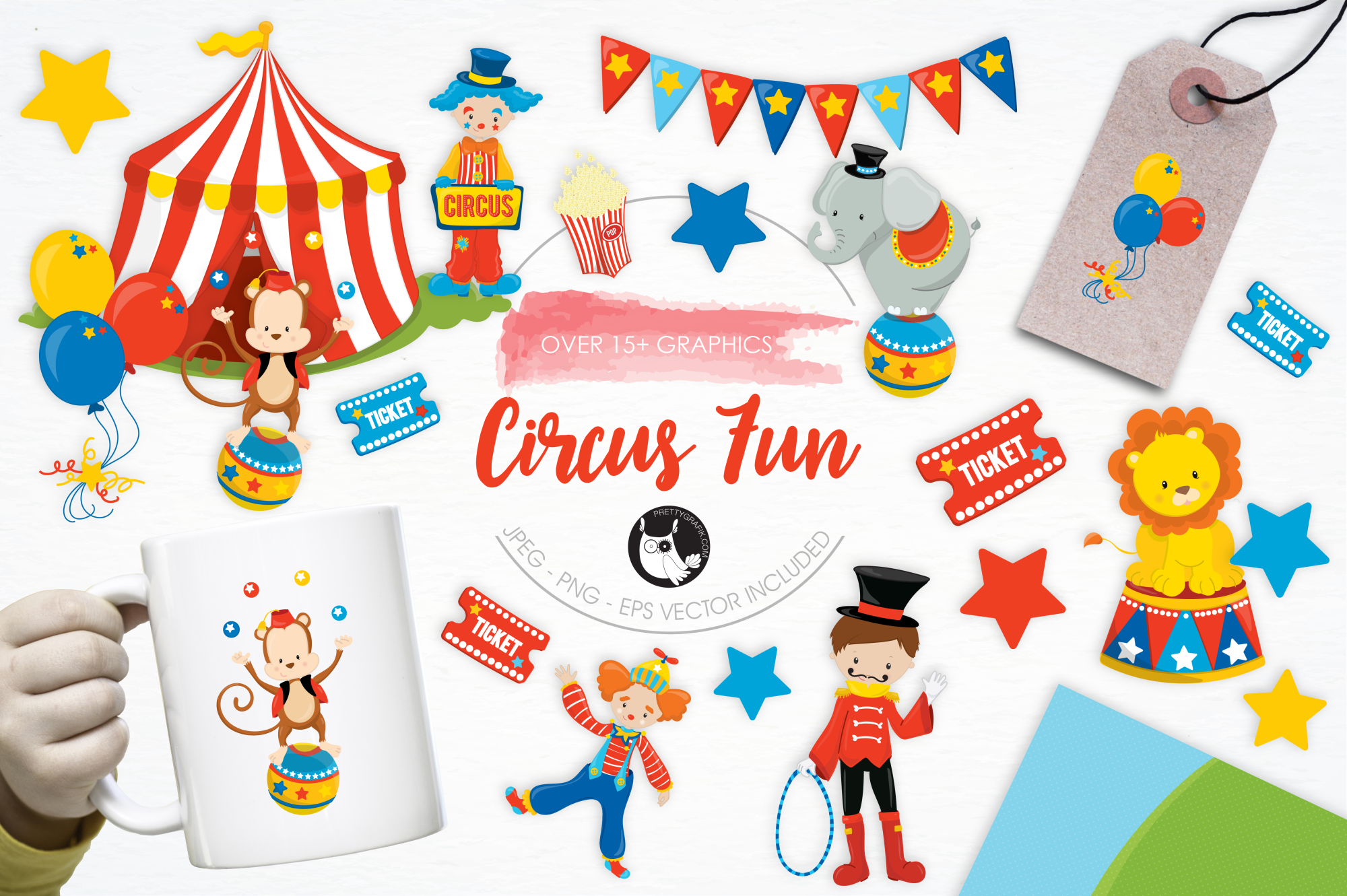 Circus Fun graphics and illustrations example image 1